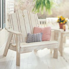 The Cliffside Settee measures 50 W 38D x 44H and is shipped in four easy to assemble sections.