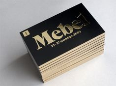 It´s not business card but it would make a nice card with the foil