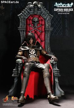 Space Pirate Captain Harlock: Harlock on Arcadia Throne, Voll bewegliche Deluxe-Figur ... http://spaceart.de/produkte/chl001.php