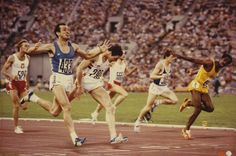 Italian sprinter Pietro Mennea holds off the 100 metres champion Allan Wells (GBR) and the defending champion Donald Quarrie (JAM) to win the 200 metres at the Moscow 1980 Olympic Games. Mennea had set a World Record of 19.72 seconds in Mexico City the previous year, a time that would last until 1996.