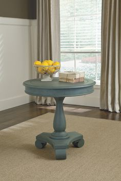 Cottage Accents - Round Accent Table by Signature Design by Ashley. Get your Cottage Accents - Round Accent Table at Wayside Furniture, Joplin MO furniture store. Living Furniture, Accent Furniture, Painted Furniture, Furniture Projects, Nice Furniture, Condo Furniture, Diy Projects, Upcycled Furniture, Furniture Plans