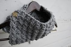 Free One Button Crochet Cowl Pattern | A Crafty House: Knitting and Crochet Patterns and Crafts