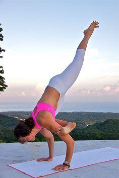 Galavasana Arm balance #yoga #love