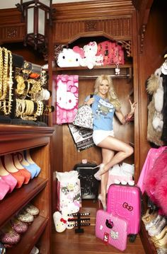 My hello kitty future Big Closets, World Most Beautiful Woman, Celebrity Closets, Simple Interior, Wedding Dresses For Girls, Perfect Wardrobe, Closet Designs, Favorite Tv Shows, Favorite Things