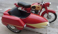 1960 Cespel Pannonia 250 with Sidecar. Vintage Motorcycles, Custom Motorcycles, Cars And Motorcycles, Classic Bikes, Classic Cars, Old Bikes, Vintage Bikes, Tricycle, Vespa