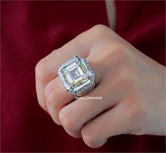 Asscher Diamond Engagement Ring 20.05 carat M color VVS1 Asscher Cut Diamond Engagement Ring, M Color, Class Ring, Diamond Cuts, Jewelry, Jewlery, Jewerly, Schmuck, Jewels