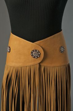 Western Leather Belt with Fringe weeks to ship) - Ann N Eve Exclusive - Made to Order - Womens Western Wear Cowgirl Chic, Cowgirl Style, Cowgirl Bling, Cowgirl Outfits, Western Outfits, Western Boots, Western Wear For Women, Women Wear, Native American Dress