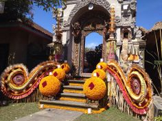 Balinese Wedding Decorations. Fair Trade trip to Indonesia