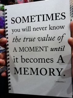moments become memories