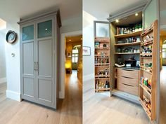 Specialists in Side Return Extensions, Loft Conversions and Basements across London Awesome larder Kitchen Larder, Larder Cupboard, New Kitchen, Kitchen Storage, Kitchen Ideas, Larder Unit, Condo Kitchen, Mini Kitchen, Pantry Ideas