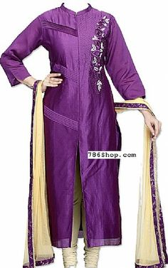 Indigo Silk Suit | Buy Pakistani Fashion Dresses and Clothing Online in USA, UK