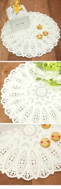 10 Big Lace Paper Doily - 310mm