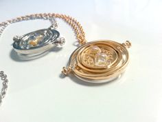 SMALL Harry Potter Inspired Time Turner Necklace  by FanaticFandom