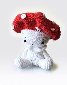 Amigurumi Crochet Mushroom Pattern  Amanita the Mushroom