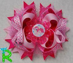 Moño para niñas de mi pequeño pony por RoshelysBowtique en Etsy