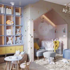 Luxury Kids Bedroom, Girls Bedroom, Dream Bedroom, Apartment Interior, Room Interior, Interior Design, Round Cribs, Girls Room Design, Contemporary Bedroom Furniture