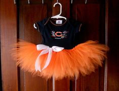 Chicago Bears Tutu Dress  Size 69 months Ready To by craftybeever, $25.00