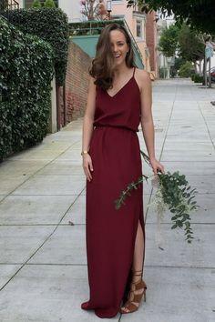 50 Burgundy Bridesmaid Dresses For Weddings