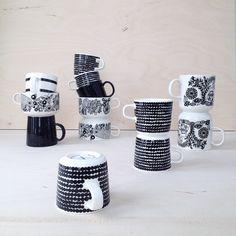 Coffee. Coffee cups. Marimekko. Arabia Finland. Black and white. Tableware. Finnish design. Interiors. By Johanna Sandberg.