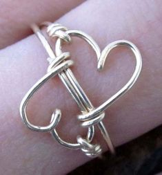 Double Heart Infinity Ring...would love this on a bracelet