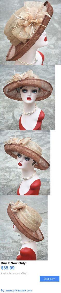 Women Formal Hats: Womens Kentucky Derby Wedding Sinamay Ascot Dress Church Roll Vintage Retro Hat BUY IT NOW ONLY: $35.99 #priceabateWomenFormalHats OR #priceabate