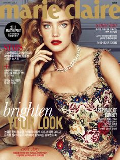 Natalia Vodianova covers Marie Claire Korea, January 2013.