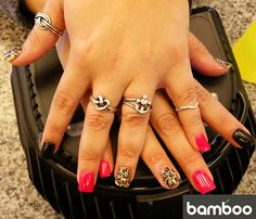 Nail art by Bamboo Nails and Spa Nail Spa, Class Ring, Bamboo, Rings, Jewelry, Art, Art Background, Jewlery, Jewerly