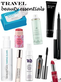 my 10 travel beauty essentials via beauty and sass