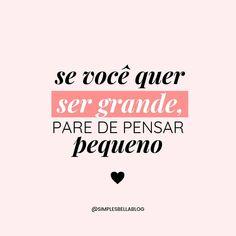 """""""A tua vida é uma cópia impressa dos teus pensamentos!"""" 😉 #frases #boanoite #motivação #refletir #pensamentos #mensagem #sonhos #vida #sucesso Successful Women, Sentences, Lettering, Thoughts, Words, Quotes, Life, Instagram, Mochi"""