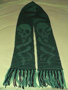 Harry Potter Dark Mark Illusion Scarf.  Free knitting pattern