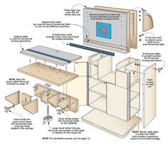 3 free diy router table plans perfect for any purpose diy router a flip up top adds a new angle to table routing the result is keyboard keysfo Image collections