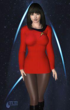So I asked myself the question: is it possible to create a Star Trek character that is. well, just too sexy to be a Star Trek character. The Question Star Trek Starships, Star Trek Enterprise, Meninas Comic Art, Star Trek Crew, Star Trek Uniforms, Star Trek Cosplay, Star Trek Images, Star Trek Original Series, Star Trek Characters