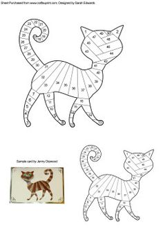 Home : Iris Folding : Animals : Cat Iris Folding Pattern