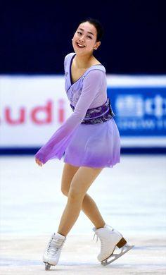 グランプリシリーズ中国杯で優勝した浅田真央=AFP時事 (2015年11月7日)