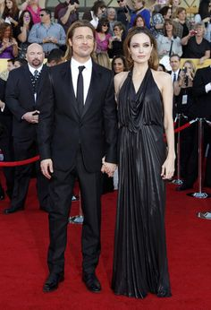Angelina and Brad are loved-up at the 2012 SAG Awards