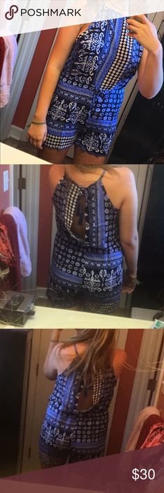 Bohemian Romper Bohemian style romper with a modest neckline and slit in the back. Just got it in the mail yesterday, but it's a little too open on the sides for my taste I'm tall, so I ordered a large and the length overall was good just too big on the top. Ordering another one in a medium just because I love it so much! Other