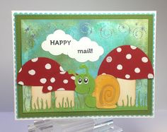 Crafting While I Wait: Inky Snail Mail ~ Die-Namites Snail