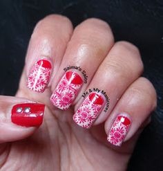 SUNDAY, 2 JUNE 2013  My Manicure: Red Lace