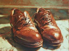 brown shoes  12x16  $225  #7038  ED. 175, AP 20