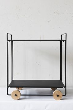 Timeless and functional Tampere trolley is ideal for any home and office space. Serving trolley can be used for many different purposes such as meeting servings and side table in the living room.  All the wood parts are handmade in Finland.