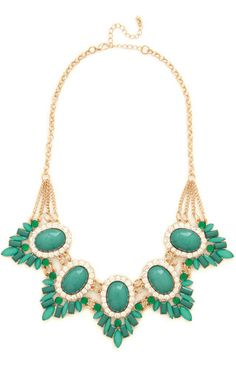 Gorgeous green statement necklace. love