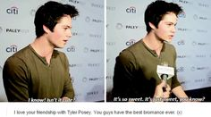 Dylan O'Brien on O'Brosey  These Teen Wolf ships just freakin sail themselves :')