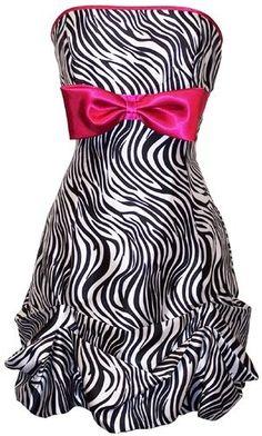 Zebra party dress.