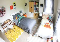Shared Kids Rooms: Making a Multiple Bed Layout Work | Apartment Therapy