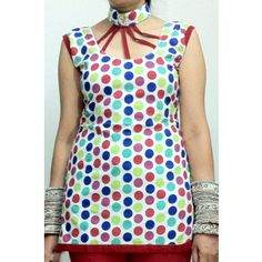Gorgeous Polka Dots Kurti Gossip Fashion @ Shopclues & ebay also