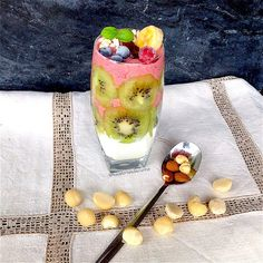 My Casual Brunch: Smoothie e overnight oats com kiwi