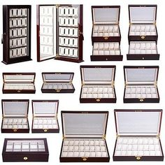 Boxes Cases and Watch Winders 173695 6 10 20 24 Slot Leather