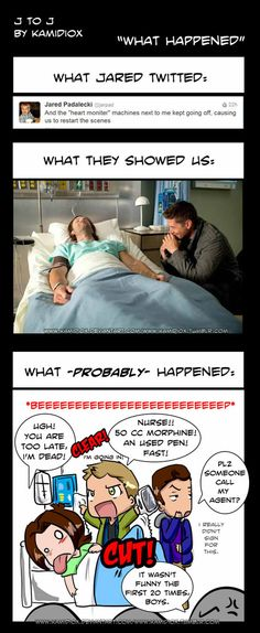 Spoiler...ish... no, not really, of what happened during 9x01. Well, of what happened during the filming of 9x01. --------------------------------------....