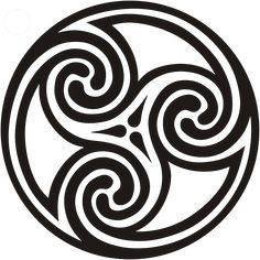 4a317fe90 Triple Spiral (celtic meaning) Represents the drawing of the three powers  of maiden, mother and crone. It is a sign of female power and especially  power ...