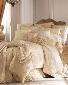 """If I had no animals or children that would EVER come to my bedroom and jump on my bed and I had more money then I would know what to do with then this bedding from Jane Wilner Designs """"Catherine's Palace"""" Bed Linens would be on my bed.  Since I live in the real world, I would duplicate this with Pure from DKNY, 1/4 the cost.  But I can dream!"""